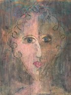 15 Harlekin Face 1 80 x 65 Mixed Media